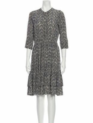 Ulla Johnson Silk Midi Length Dress Grey