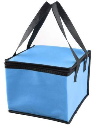 Unique Bargains Outdoor Zippered Insulated Food Picnic Tote Lunch Cooler Bag Blue