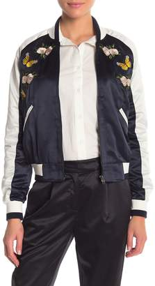 re:named apparel Embroidered Bomber Jacket