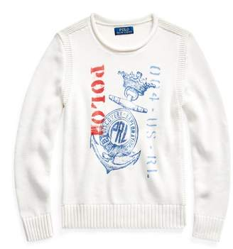 Ralph Lauren Anchor-Print Cotton Jumper