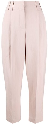 Brunello Cucinelli High Waisted Tapered Trousers