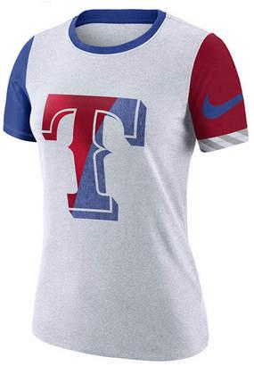 Nike Women Texas Rangers Slub Logo Crew T-Shirt