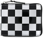 Comme des Garcons checked zip-around wallet