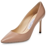 Jimmy Choo Romy Leather Pointed-Toe Pumps
