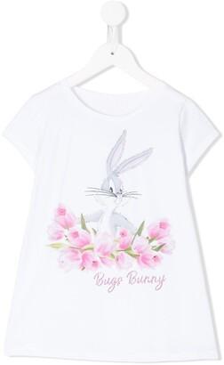 MonnaLisa Bugs Bunny graphic printed T-shirt