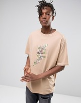 Jaded London Oversized T-Shirt With Floral Print