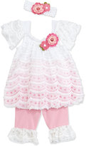 cachcach Mesh and Lace Swing Top & Leggings, Pink, 12-24 Months