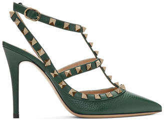 Valentino Green Garavani Rockstud Heels