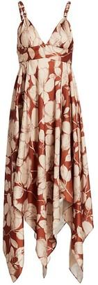 Alexis Gaiana Floral Handkerchief Midi Dress