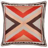 Aura Arrow 20-Inch Square Throw Pillow in Orange