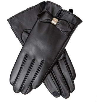 Dents Womens Bow Detail Leather Gloves