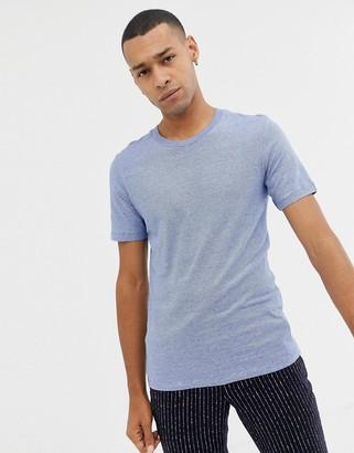 Selected melange t-shirt-Blue
