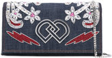 DSQUARED2 embellished denim clutch bag - women - Cotton/Polyamide/Viscose/Polyurethane Resin - One Size
