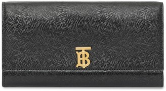 Burberry Monogram Motif Grainy Leather Continental Wallet