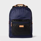 Men's Black And Blue Backpack