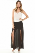 Lovers + Friends One & Only Maxi Skirt in Black