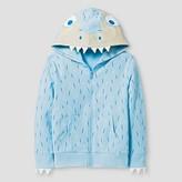 Cat & Jack Toddler Boys' Polar Bear Hooded Sweatshirt Heirloom Blue