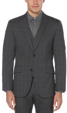 Perry Ellis Men's Slim-Fit Stretch Plaid Suit Jacket