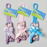 PEDICURE 9PC GIFT SET WRAPPED IN RIBBON 3AST COLORS, Case Pack of 48