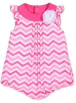 First Impressions Chevron-Striped Chiffon Bubble Romper, Baby Girls (0-24 months)