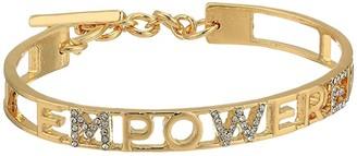 BCBGeneration Empower Gift Bracelet (12K Gold/Crystal) Bracelet