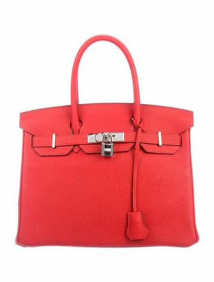Hermes Togo Birkin 30 Rouge