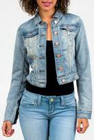 YMI Jeanswear Cropped Jean Jacket