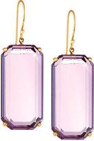 Ippolita Rock Candy Gelato 18k Amethyst Drop Earrings, Purple