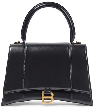 Balenciaga Hourglass M leather shoulder bag