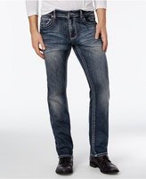 INC International Concepts Men's Marc Slim Straight Fit Dark-Wash Jeans, Only at Macy's