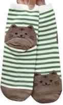 Cute Animals Socks,Lookatool Women Cartoon Striped Cat Footprints Cotton Socks