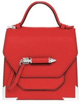 Mackage Rubie Structured Leather Shoulder Bag In Flame