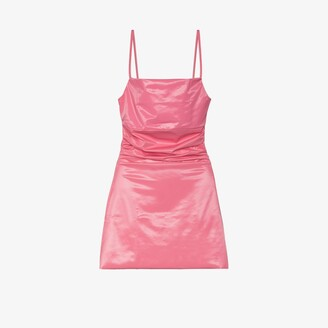 MAISIE WILEN Pink Glossy Mini Dress