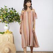 SUNDRESS Bella Long Dress In Pink Knit - XS/S