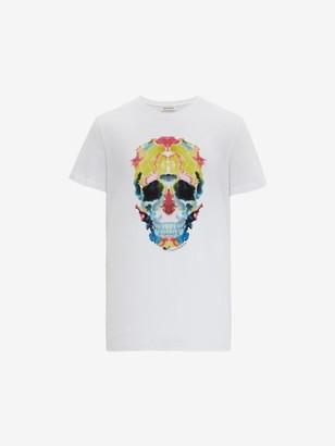 Alexander McQueen Mirrored Ink Skull T-Shirt
