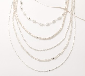 UltraFine Silver Interchangeable Graduated Necklace, 36g