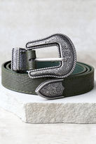 LuLu*s Wandering Wilderness Silver and Olive Green Belt