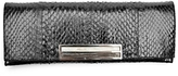 Pantera Cobra Skin Cigarette Clutch: Black