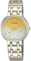 Pulsar Womens Two Tone Bracelet Watch-Ph8303