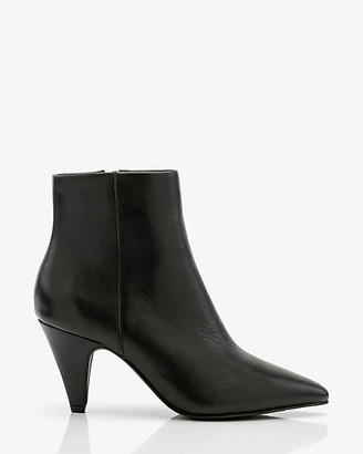 Le Château Leather Cone Heel Ankle Boot