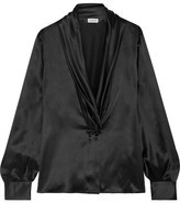 Loewe Silk-satin Blouse - Black