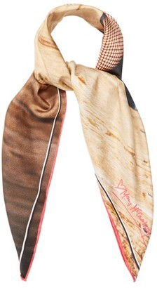 Mary Mccartney - Legs Eleven-print Silk Scarf - Womens - Nude