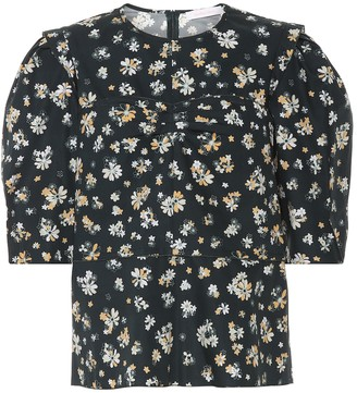 See By Chloã© Floral cotton blouse