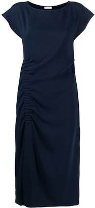 P.A.R.O.S.H. Boat-Neck Draped Midi Dress