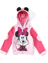Freeze Minnie Mouse Eared Zip-Up Hoodie - Girls