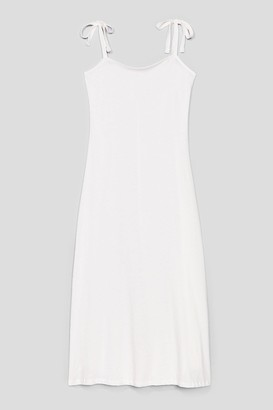 Nasty Gal Womens All Tie Need Relaxed Midi Dress - White