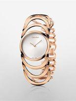 Calvin Klein Womens Body Rose Gold Bracelet Watch Rose Gold
