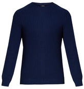 A.p.c. Crew-neck Cotton And Linen-blend Sweater