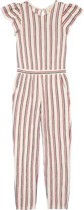 Tucker + Tate Stripe Flutter Sleeve Cotton Blend Jumpsuit