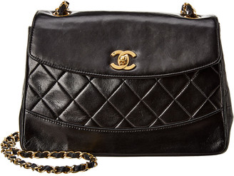 Chanel Black Quilted Lambskin Leather Shoulder Bag